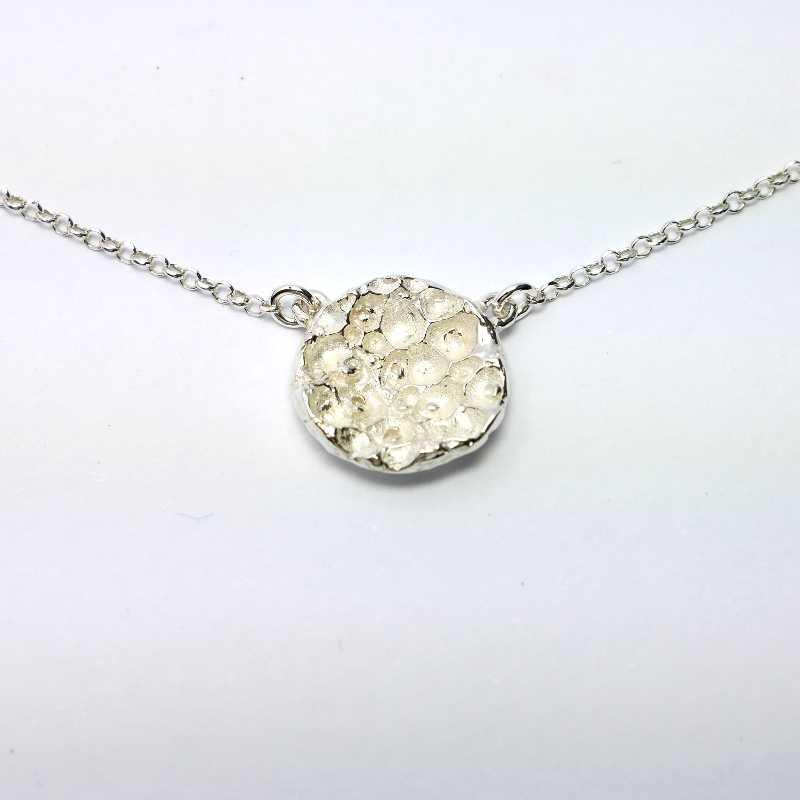 Bracelet Rosée du Matin en argent massif et perles de cristal Rosee du Matin