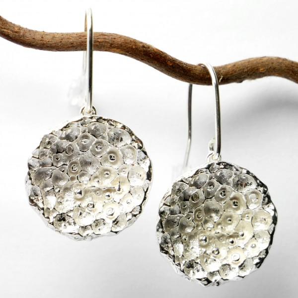 Prunus flower ajustable bracelet. Sterling silver.