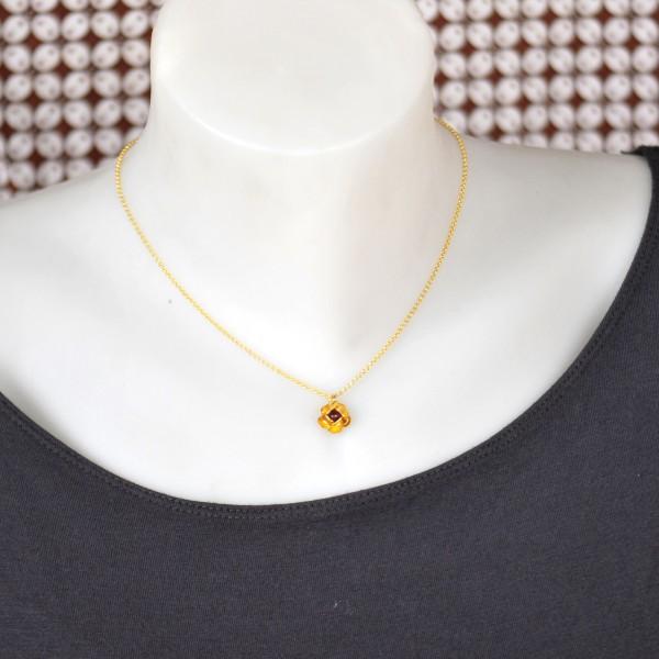 Petit collier coeur rouge Valentine en argent 925