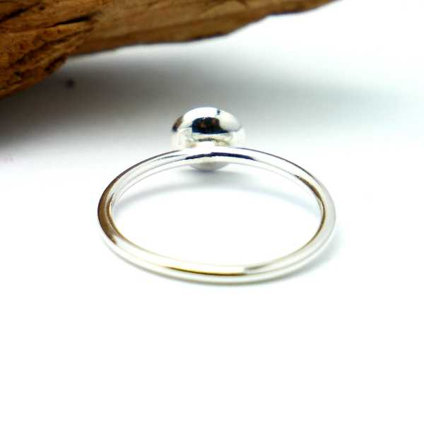 Nice Litchi sterling silver adjustable ring