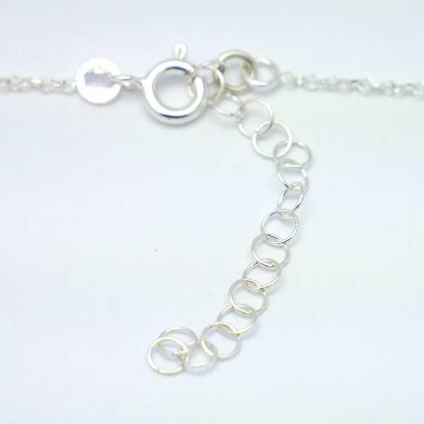 Schöner verstellbarer Litchi Ring Sterling Silber
