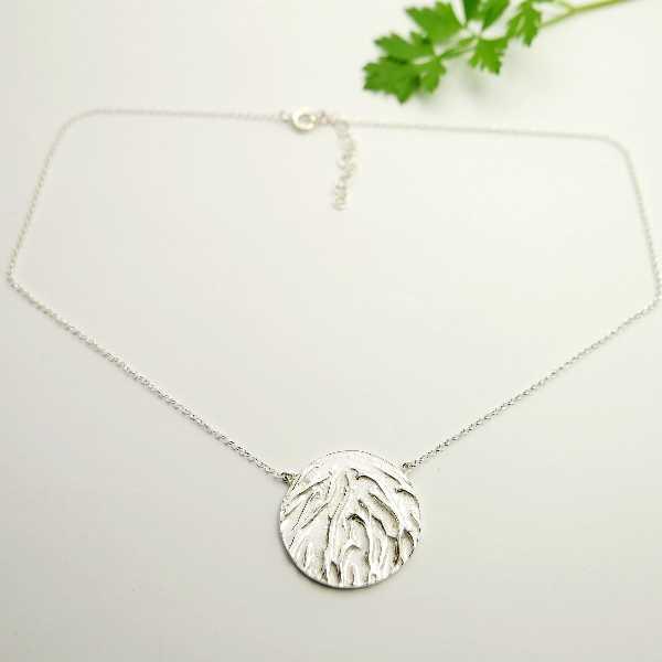 Small Sakura flower pendant in sterling silver