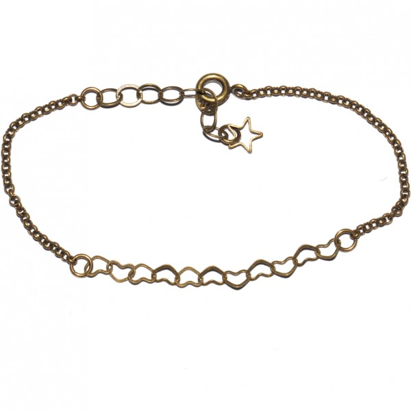 Bracelet rond Rose en bronze vieilli Rose