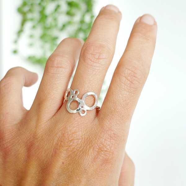 Prunus small earrings. sterling silver.