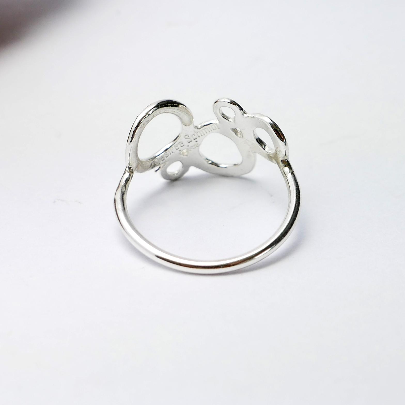 Kleine Sterling Silber Kirschblumen Ohrringe der Prunus Sammlung