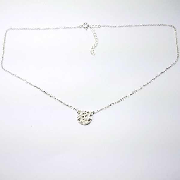 Cherry Blossom long bracelet. Sterling silver and resin.