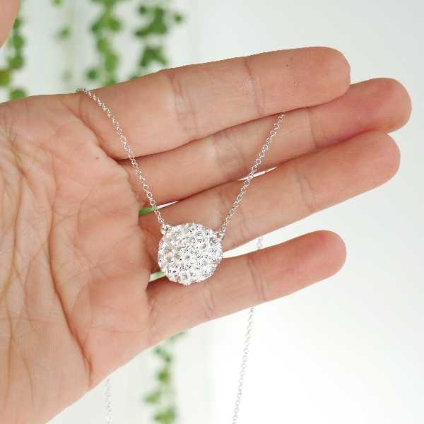 Awa bubble adjustable necklace. Sterling silver.