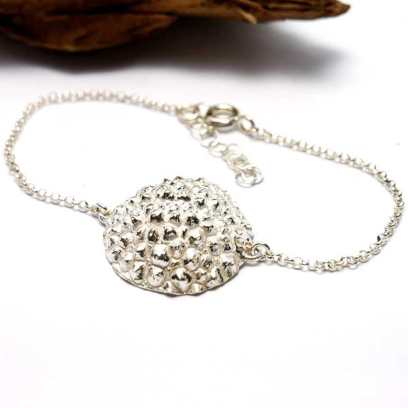Bracelet jonc en argent et or 24 carat Perle de Pluie Perle de Pluie