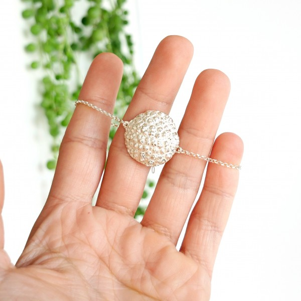 Regentropfen Armband aus Sterling Silber Perle de Pluie