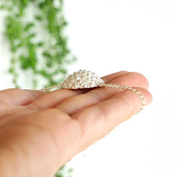 Wonderful Litchi sterling silver bracelet Litchi 75,00€