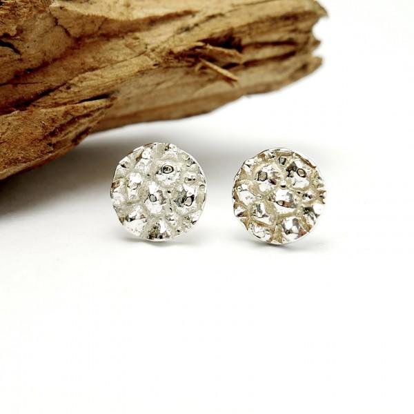 Verstellbarer Ring aus Sterling Silber u. 24 Karat Gold Perle de Pluie