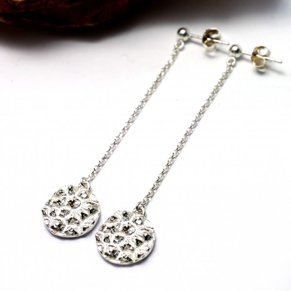 Sterling silver Litchi long earrings  Litchi 75,00 €