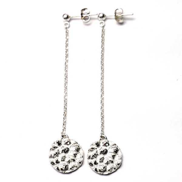 Boucles d'oreilles pendantes Litchi en argent massif  Litchi 75,00€