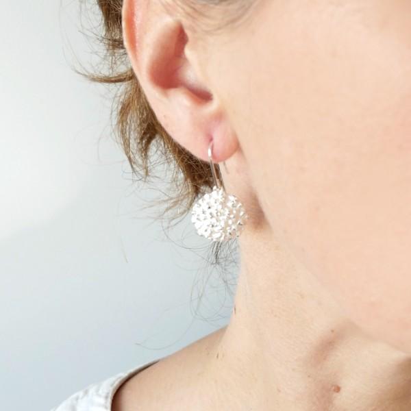 Schöne Litchi Sterling Silber Ohrringe Litchi 85,00€