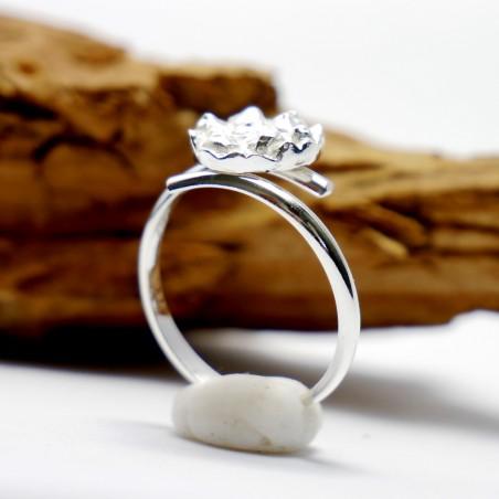 Kleiner verstellbarer Litchi Ring Sterling Silber Litchi 57,00€