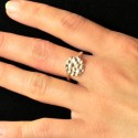 Mellow Meadow Flower big ajustable ring. Sterling silver. Mellow Meadow Flower
