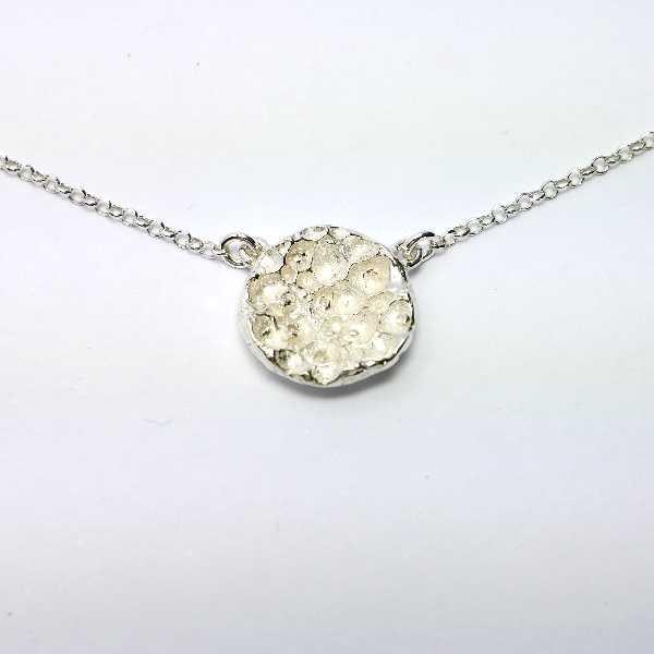 Bracelet Rosée du Matin en argent massif et perles de cristal