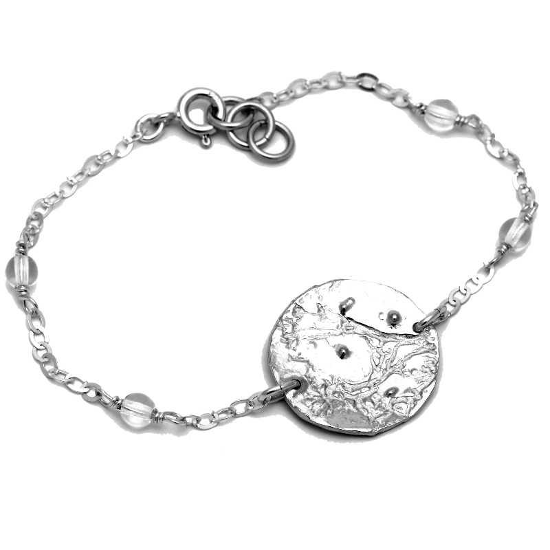 Bracelet Rosée du Matin en argent massif et perles de cristal  Rosee du Matin 67,00€