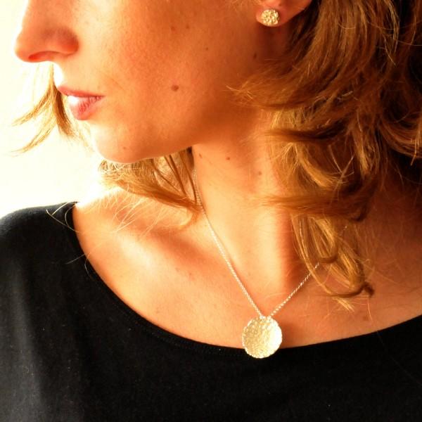 Grand collier en argent massif Poussière d'étoiles  Poussière d'étoiles 77,00€