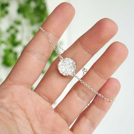 Sterling silver Morning Dew pendant earrings