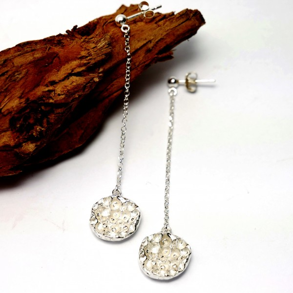 Sternenstaub lange Sterling Silber Ohrringe Sternstaub 77,00€