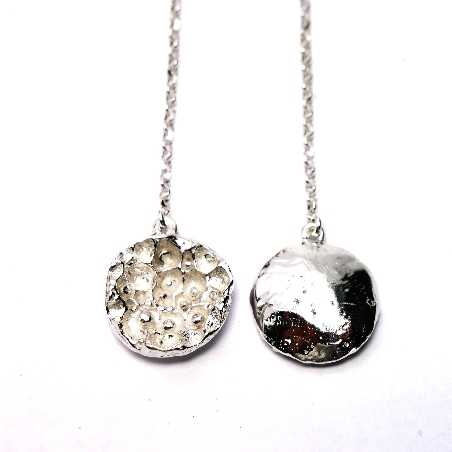 Boucles d'oreilles pendantes Poussière d'étoile en argent massif  Poussière d'étoiles 77,00€