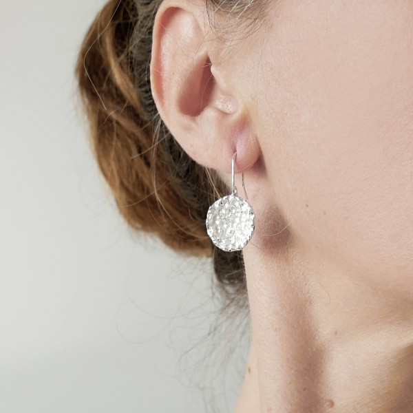 Boucles d'oreilles Poussière d'étoile en argent massif  Poussière d'étoiles 85,00€