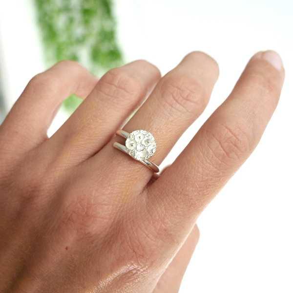 Kleiner Sternenstaub verstellbarer ring aus Sterling Silber Sternstaub 57,00€