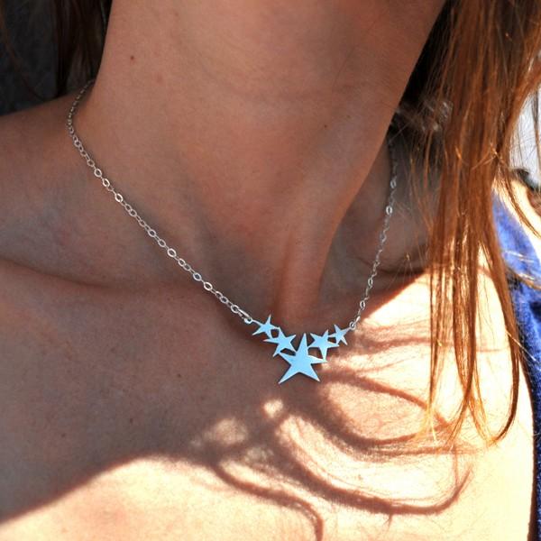 Sterling Silber Stern verstellbare Halskette Desiree Schmidt Paris Sati 77,00€