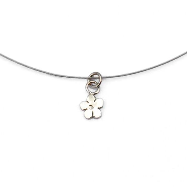 minimalist necklace flower silver 925 made in France Desiree Schmidt Paris Prunus 27,00€