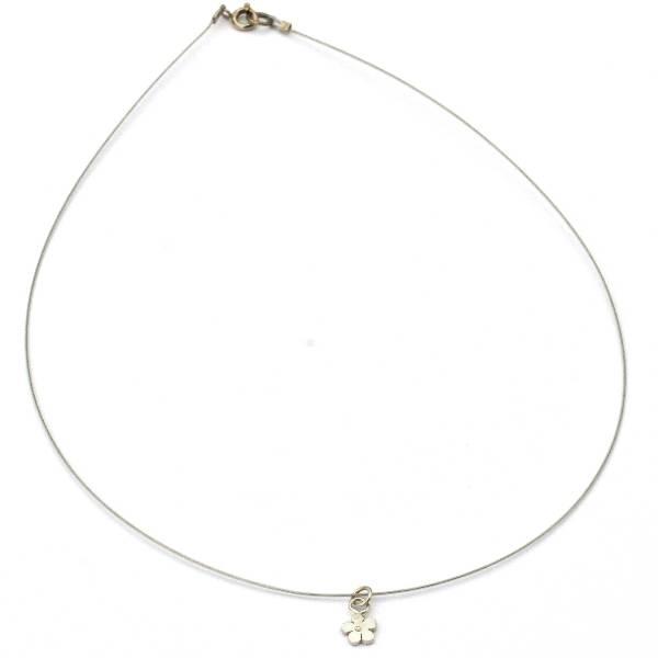 fine Sakura flower necklace in sterling silver 925 made in France Desiree Schmidt Paris Prunus 27,00€