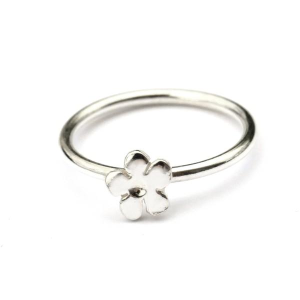 Kleiner Prunus Blume Sterling Silber Ring Prunus 27,00€