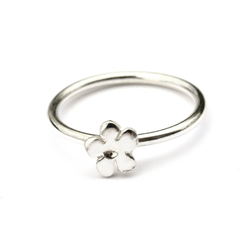 Prunus flower simple sterling silver ring  Prunus 27,00€