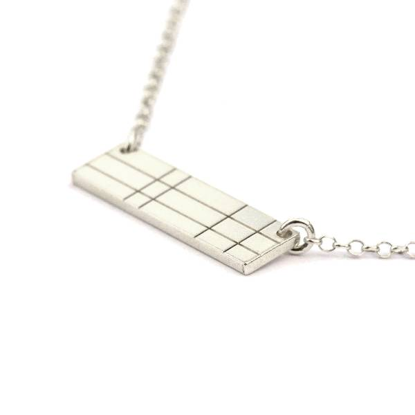 Rectangular sterling silver Kilt necklace Kilt 47,00 €