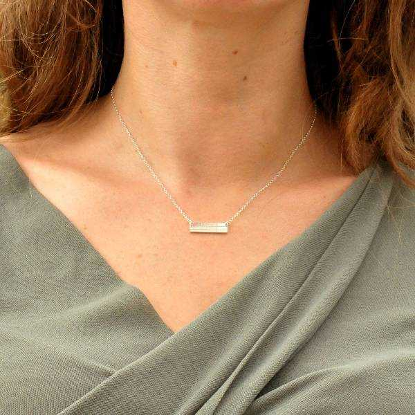 Rechteckige Sterling Silber Kilt Halskette Desiree Schmidt Paris Kilt 47,00€