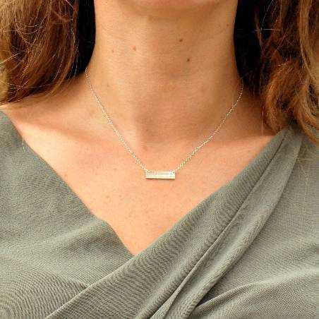 Rechteckige Sterling Silber Kilt Halskette  Kilt 47,00€