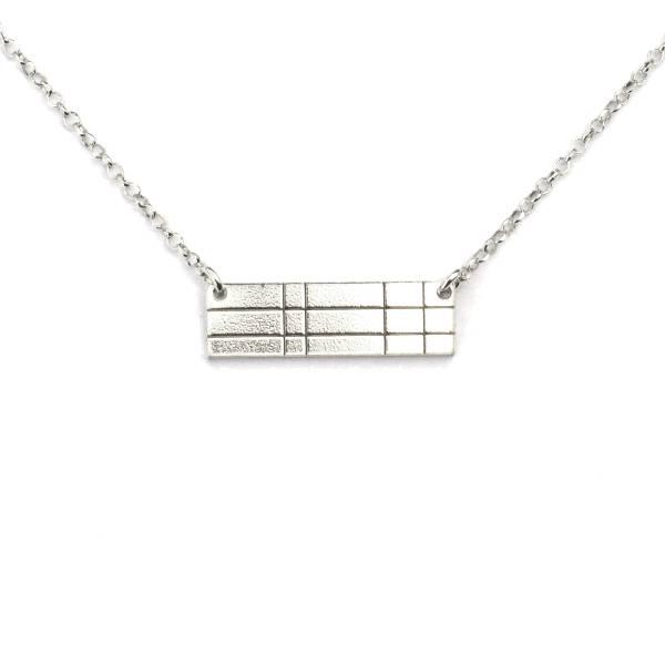 Rectangular sterling silver Kilt necklace  Kilt 47,00€