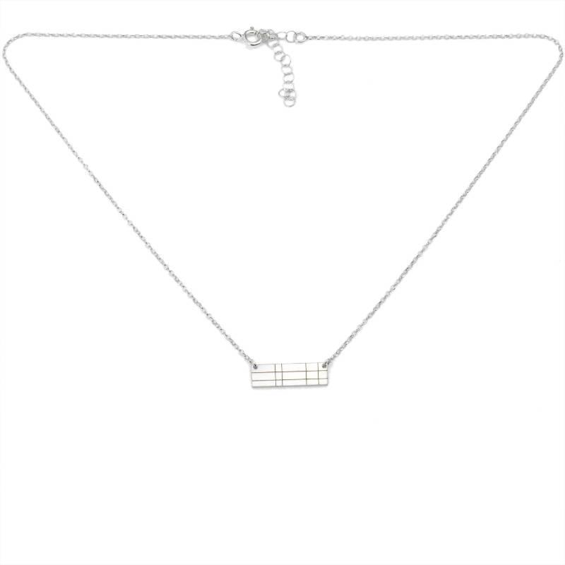 Boucles d'oreilles Etoile pendantes carrées en argent massif 925/1000 Etoile