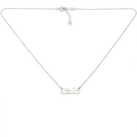 Boucles d'oreilles Etoile pendantes carrées en argent massif 925/1000