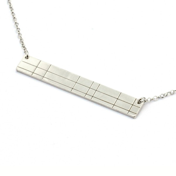 Rectangular sterling silver Kilt necklace Kilt 65,00 €