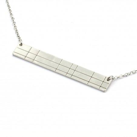 Rectangular sterling silver Kilt necklace Kilt 65,00€