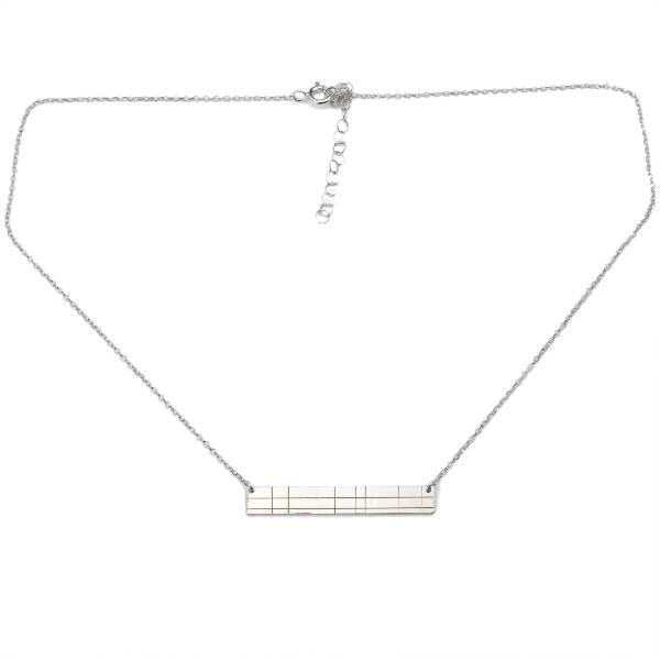 Collier en argent 925/1000 rectangulaire collection Kilt Desiree Schmidt Paris Kilt 65,00€