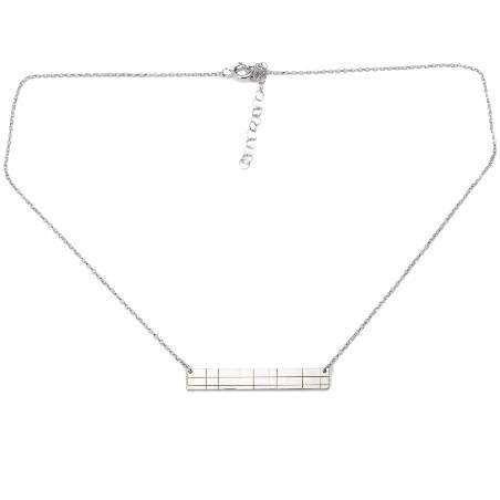 Rectangular sterling silver Kilt necklace Desiree Schmidt Paris Kilt 65,00€