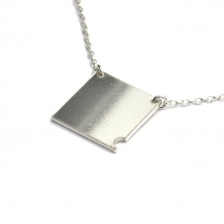 Sterling silver small square necklace Desiree Schmidt Paris Bubble 57,00€