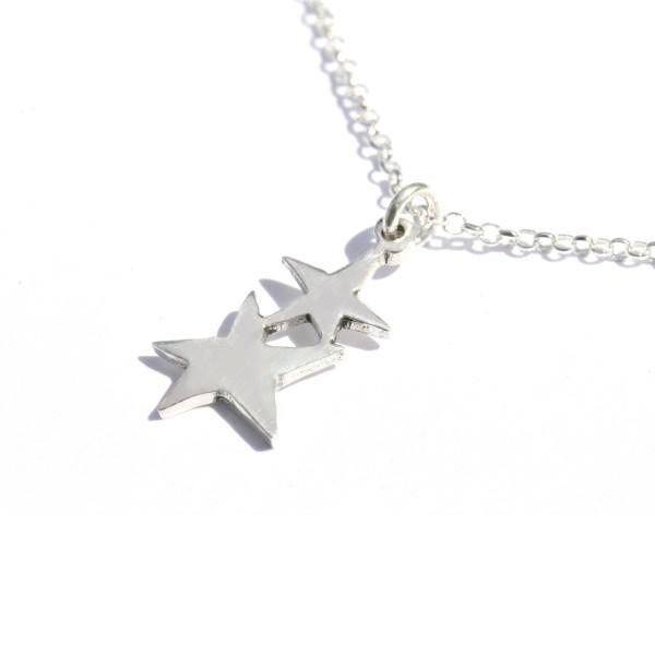 Pendentif étoile ajustable en argent massif 925/1000 sur chaine ajustable Desiree Schmidt Paris Sati 37,00€