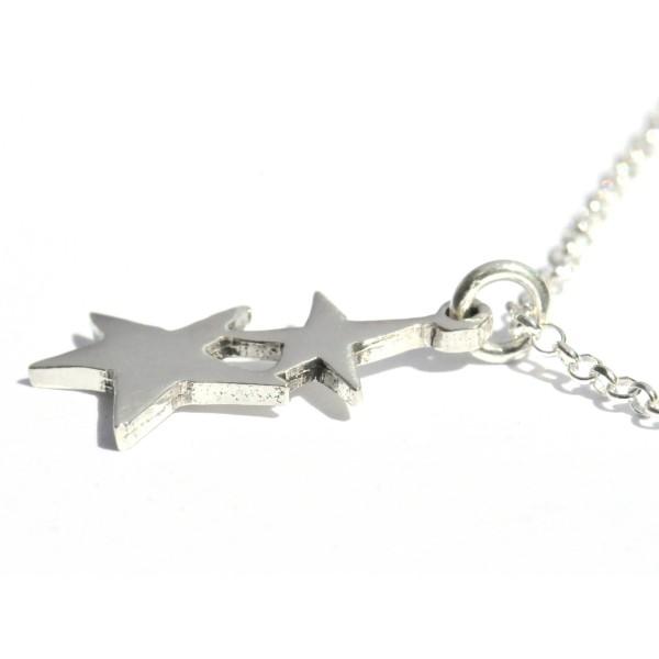 Small star pendant on sterling silver adjustable chain Desiree Schmidt Paris Sati 37,00€