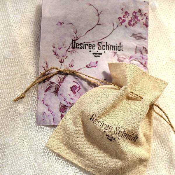 Sterling silver translucent purple Cherry Blossom long necklace. Desiree Schmidt Paris Cherry Blossom 77,00€