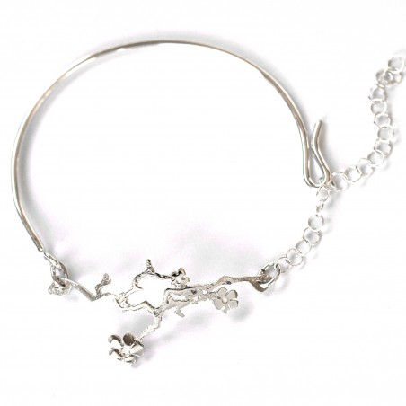 Prunus flower ajustable bracelet. Sterling silver. Prunus 75,00 €