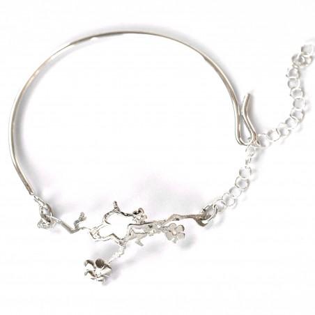 Prunus flower ajustable bracelet. Sterling silver.  Prunus 75,00€