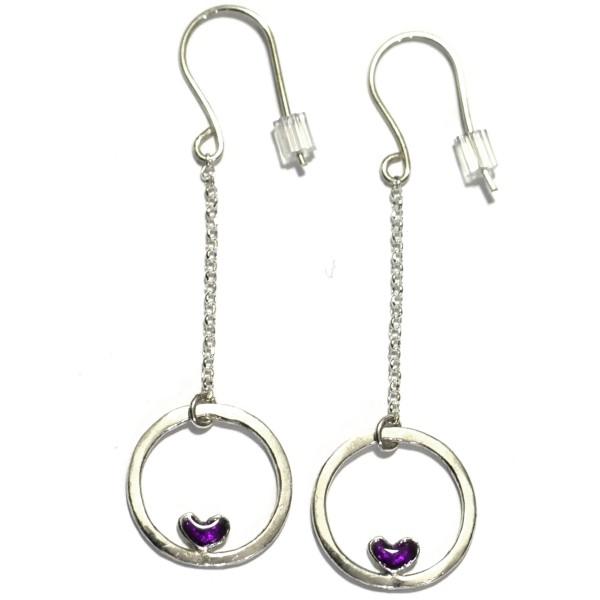 Lange Hertz Ohrringe aus Sterling Silber  Valentine 57,00€